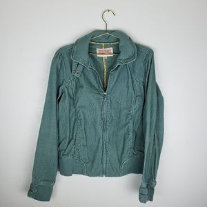 Beautiful Teal corduroy jacket with button feature